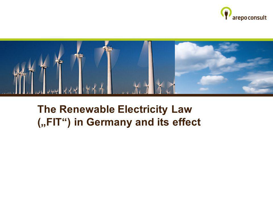 The Renewable Electricity Law (FIT) in Germany and its effect