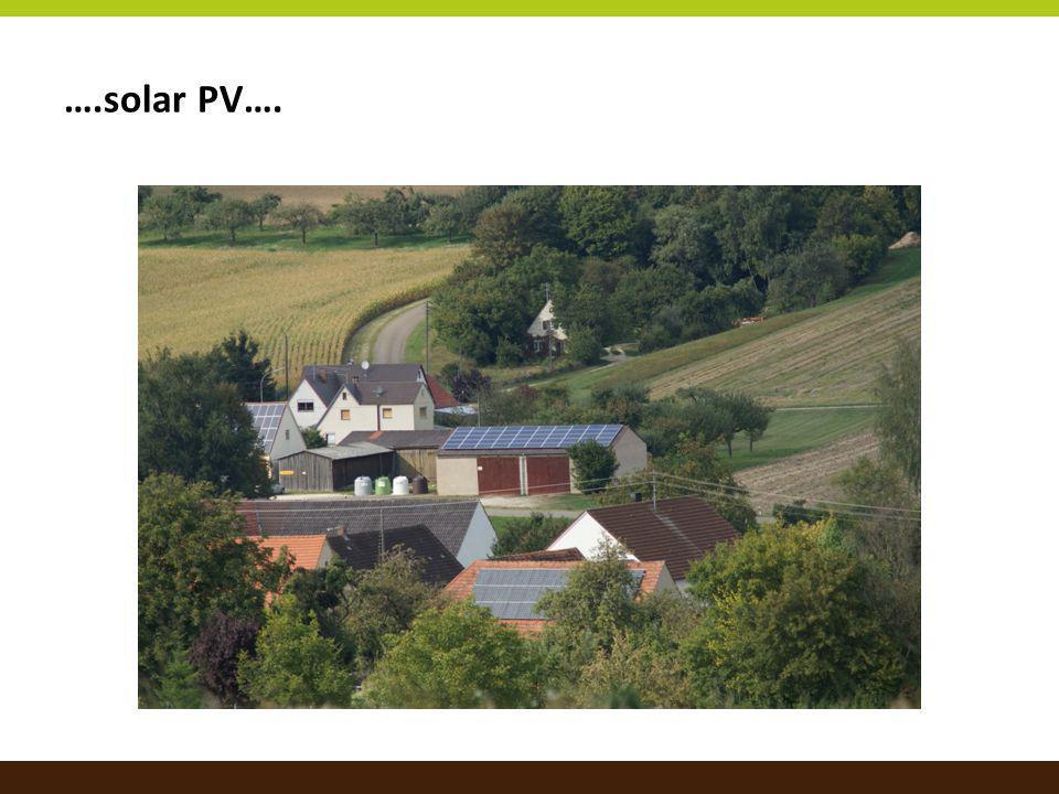 ….solar PV….