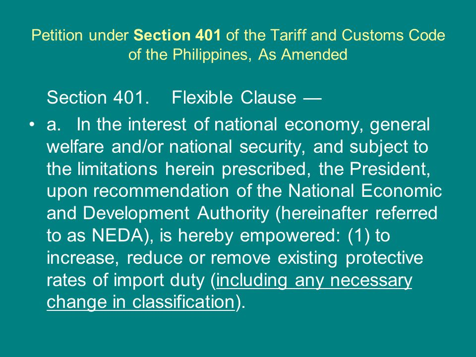 Nature of Request/Petition: i.The creation/extraction from the present ASEAN Harmonized Tariff Nomenclature a specific heading for the following Articles: Hydrous ethanol of ethanol strength, by volume, of AHTN code exceeding 94% but not more than 99%, for use as 2207.20.12 fuel in an internal combustion engine or other motive power Anhydrous ethanol of ethanol strength, by volume, AHTN code of 93.2% and above but not more than 99%, for use 2207.20.13 as fuel in an internal combustion engine or other motive power