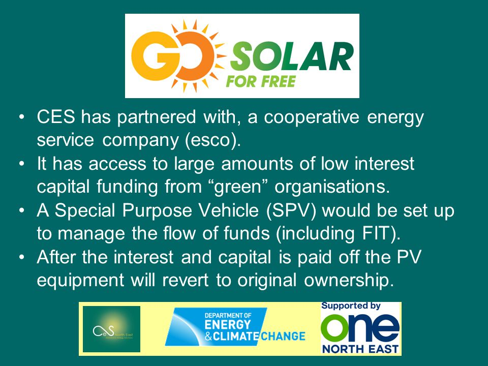 CES has partnered with, a cooperative energy service company (esco).