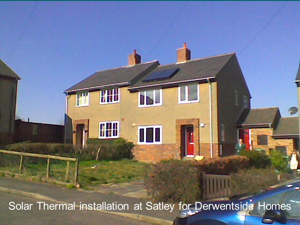 Solar Thermal installation at Satley for Derwentside Homes