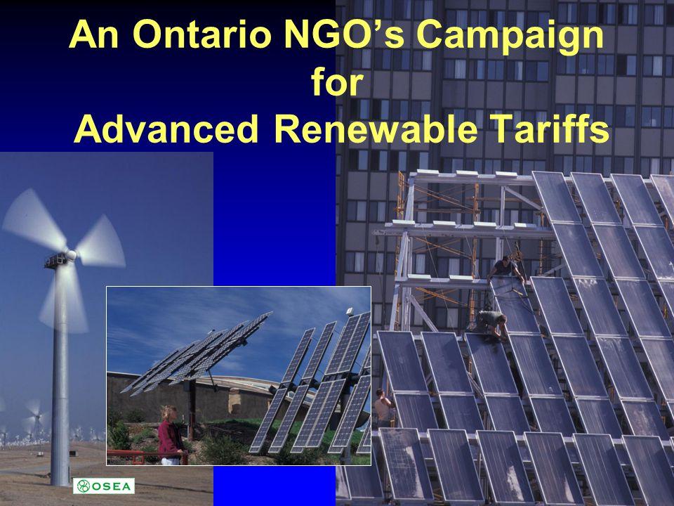Advanced Renewable Tariffs in North America...Unthinkable.
