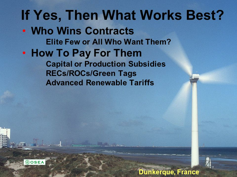 Advanced Renewable Tariffs in Ontario.Were Not There Yet.