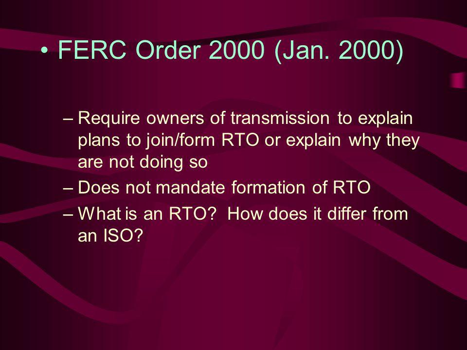 FERC Order 2000 (Jan.