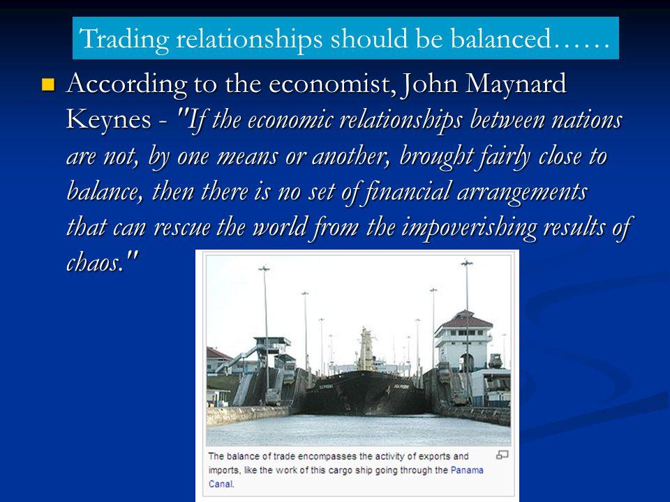 According to the economist, John Maynard Keynes -