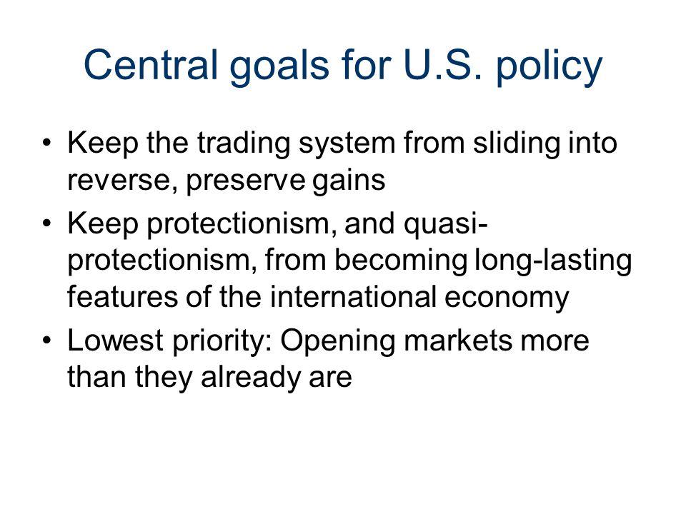 Central goals for U.S.