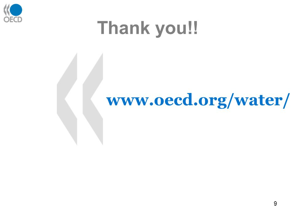 9 Thank you!! www.oecd.org/water/