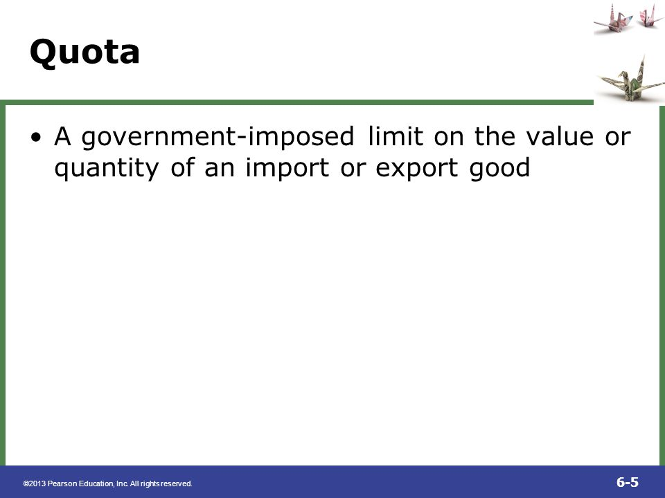 ©2013 Pearson Education, Inc. All rights reserved. 6-36 FIGURE 6.6 The Effect of an Import Tariff