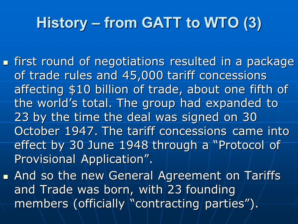 Structure of WTO (1) The WTOs top level decision-making body is the Ministerial Conference which meets at least once every two years.