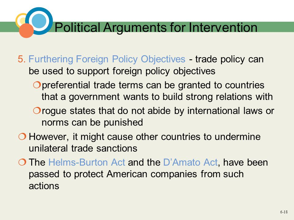 6-18 Political Arguments for Intervention 5.
