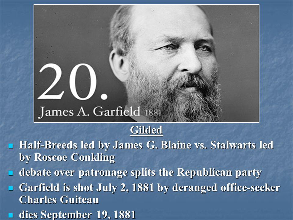 Gilded Half-Breeds led by James G. Blaine vs.