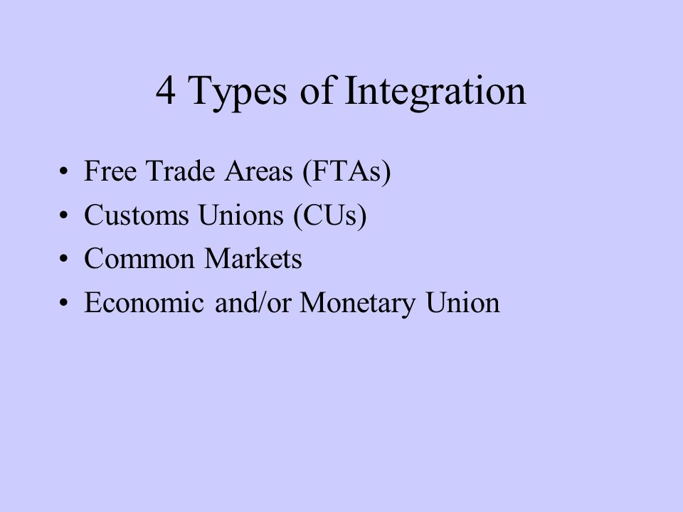 Trade Creation and Trade Diversion: An Example D P Q S Tariff price $1.50 160200 Free trade price$1.00 FTA price $1.20 With FTA, PS falls