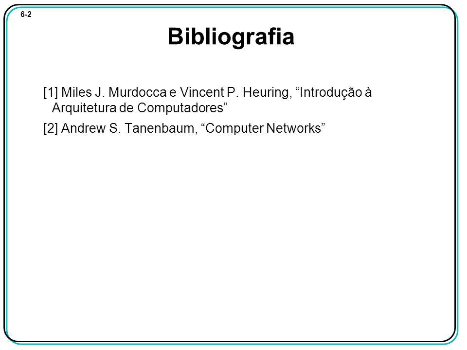 6-2 Bibliografia [1] Miles J. Murdocca e Vincent P.
