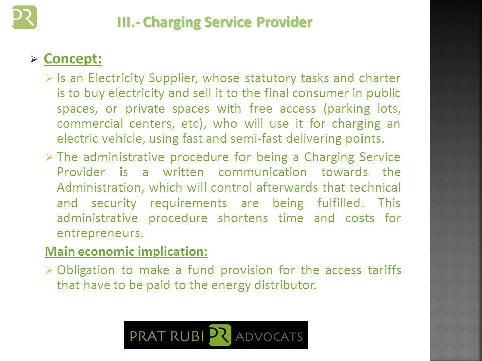 Supplier Applying Regulated Tariffs: Under Administrative regime of Authorization.