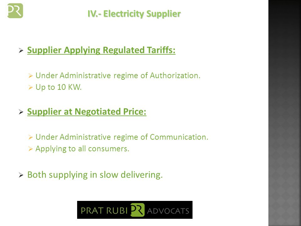 Independent Meter and independent Supplying contract.