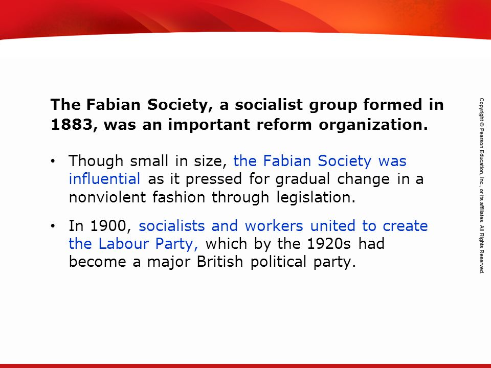 TEKS 8C: Calculate percent composition and empirical and molecular formulas. Though small in size, the Fabian Society was influential as it pressed fo