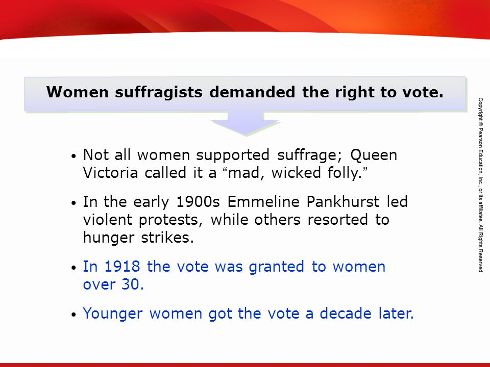 TEKS 8C: Calculate percent composition and empirical and molecular formulas. Women suffragists demanded the right to vote. Not all women supported suf