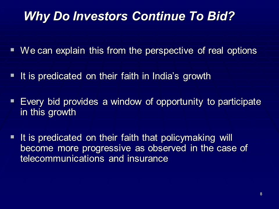 8 Why Do Investors Continue To Bid.