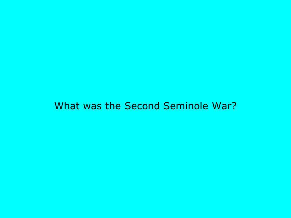 What was the Second Seminole War?