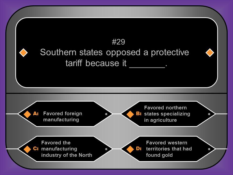 B. Protective tariff