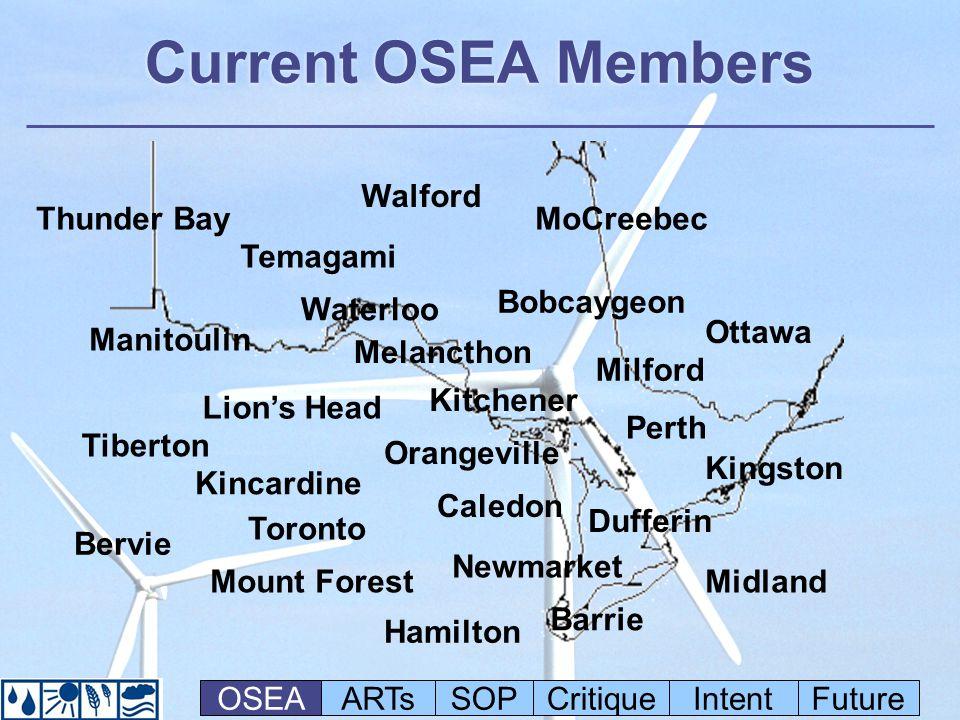 OSEAs Goals 500 MW Community Power 100% Renewables Minimum 50% Local Ownership 500 MW Community Power 100% Renewables Minimum 50% Local Ownership OSEAARTsSOPCritiqueIntentFuture