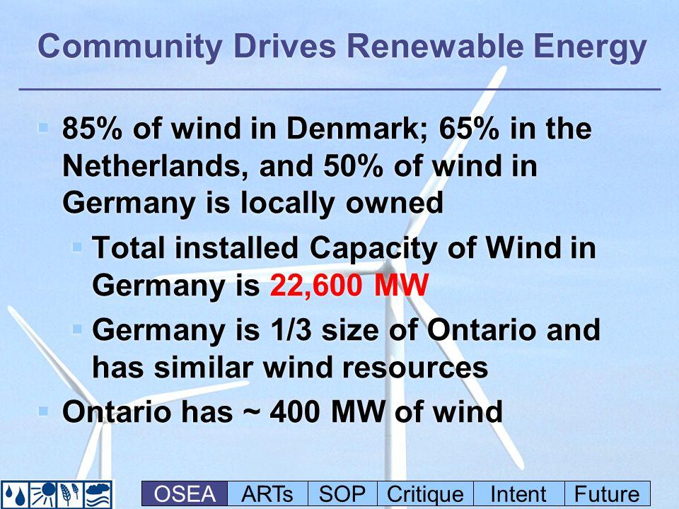 Advanced Renewable Tariffs: The Origin of ARTs in Ontario (Deb Doncaster)