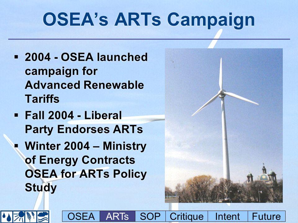 Ontario Solar Tariff North American Comparison OSEAARTsSOPCritiqueIntentFuture
