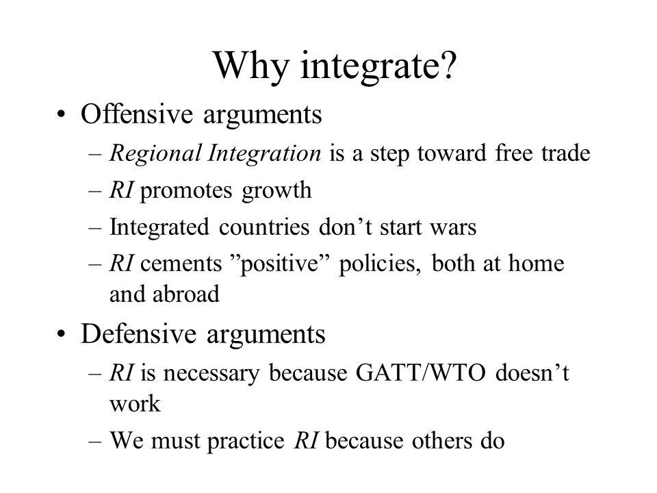 Why integrate.
