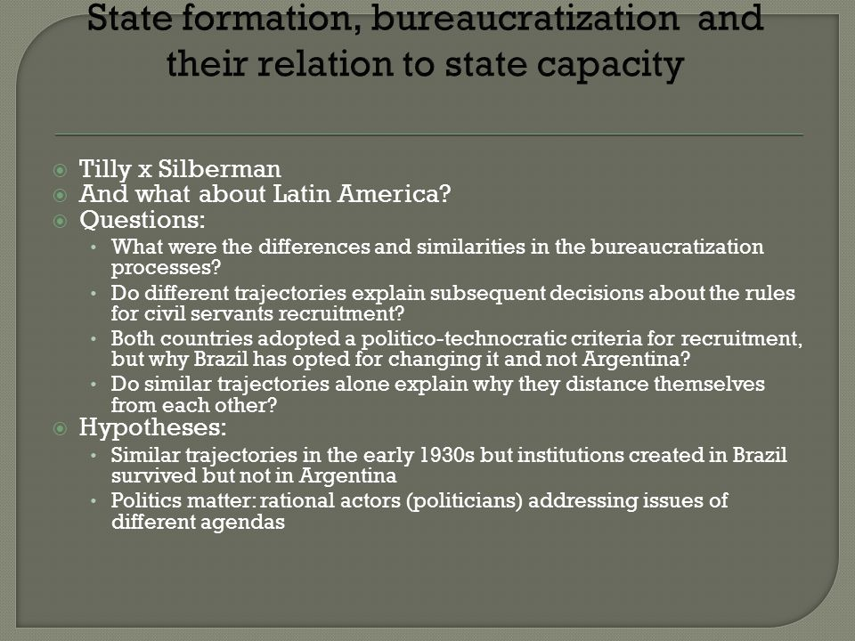 Tilly x Silberman And what about Latin America.