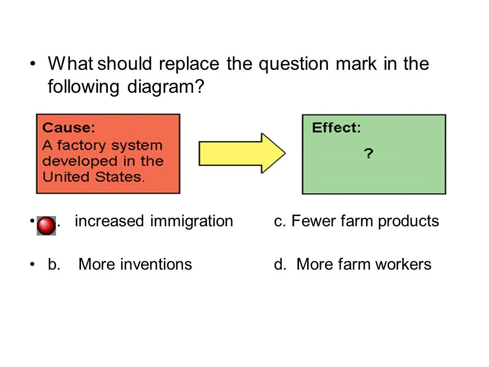 What should replace the question mark in the following diagram.
