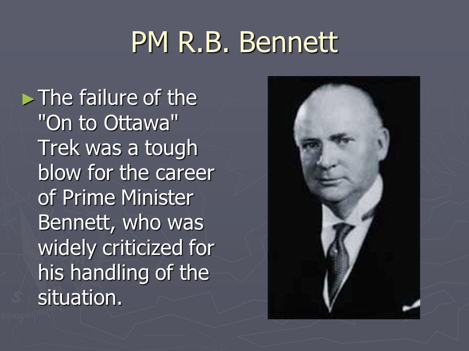 PM R.B. Bennett The failure of the