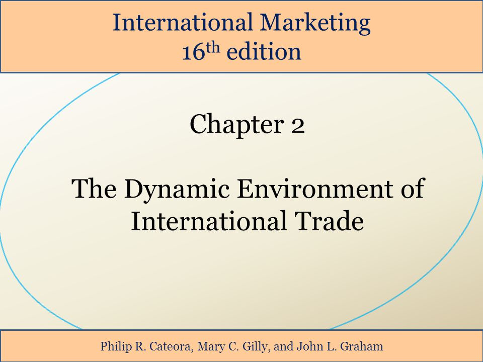 International Marketing 16 th edition Philip R. Cateora, Mary C. Gilly, and John L. Graham