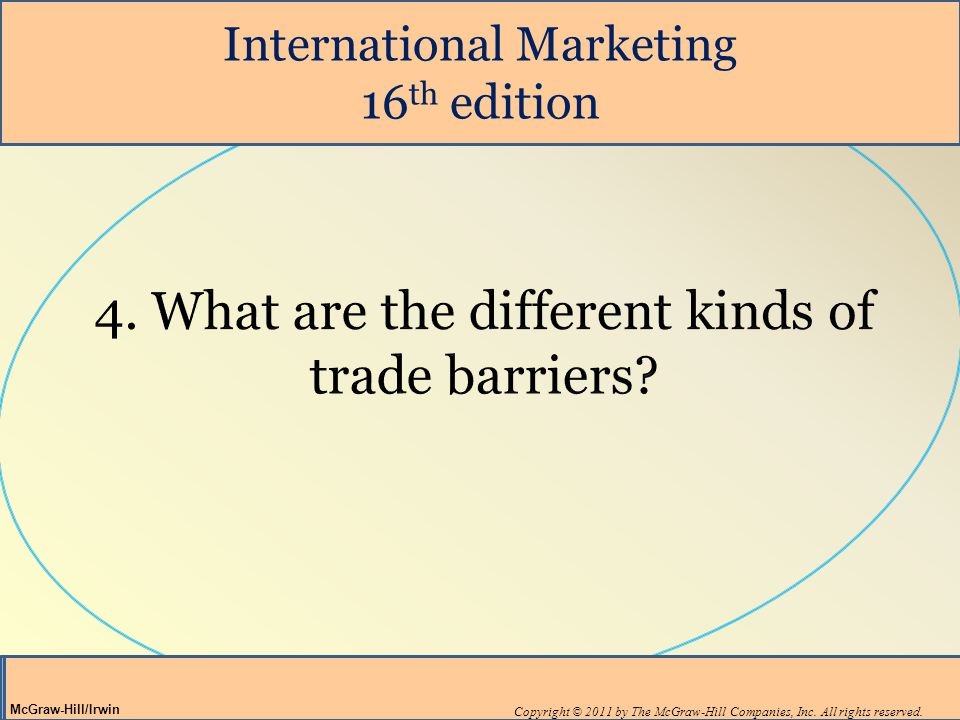 International Marketing 16 th edition Copyright © 2011 by The McGraw-Hill Companies, Inc.