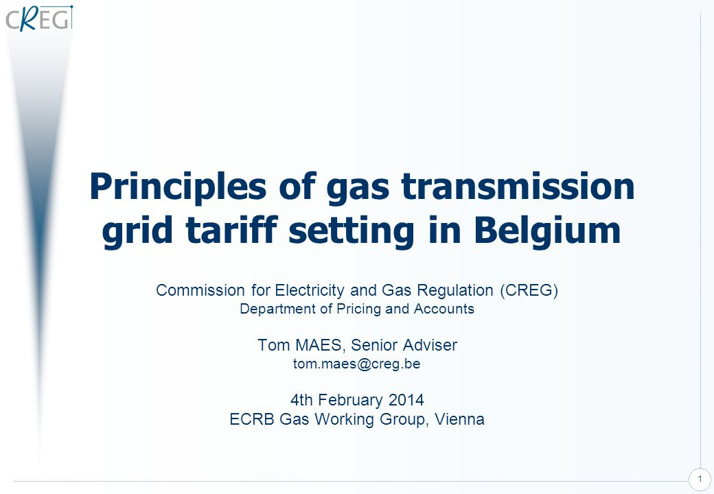 2 Agenda Basic principles of grid tariffs Treatment of new investments –Remuneration parameters used in grid tariffs –Comments on remuneration parameters Framework Guidelines Tariff Structures Cost allocation to entry and exit points