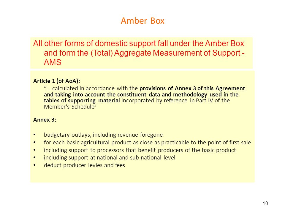 Amber Box Article 1 (of AoA):...