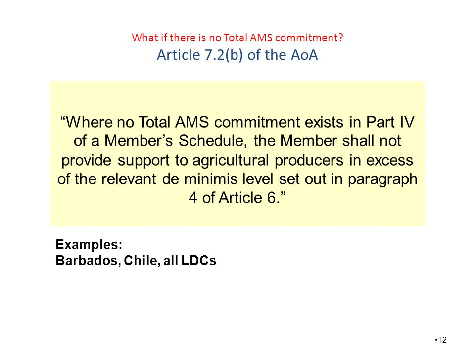 What if there is no Total AMS commitment.
