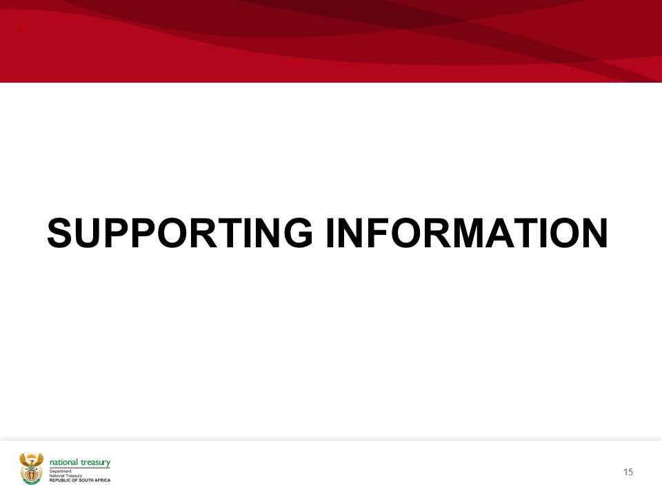 , SUPPORTING INFORMATION 15