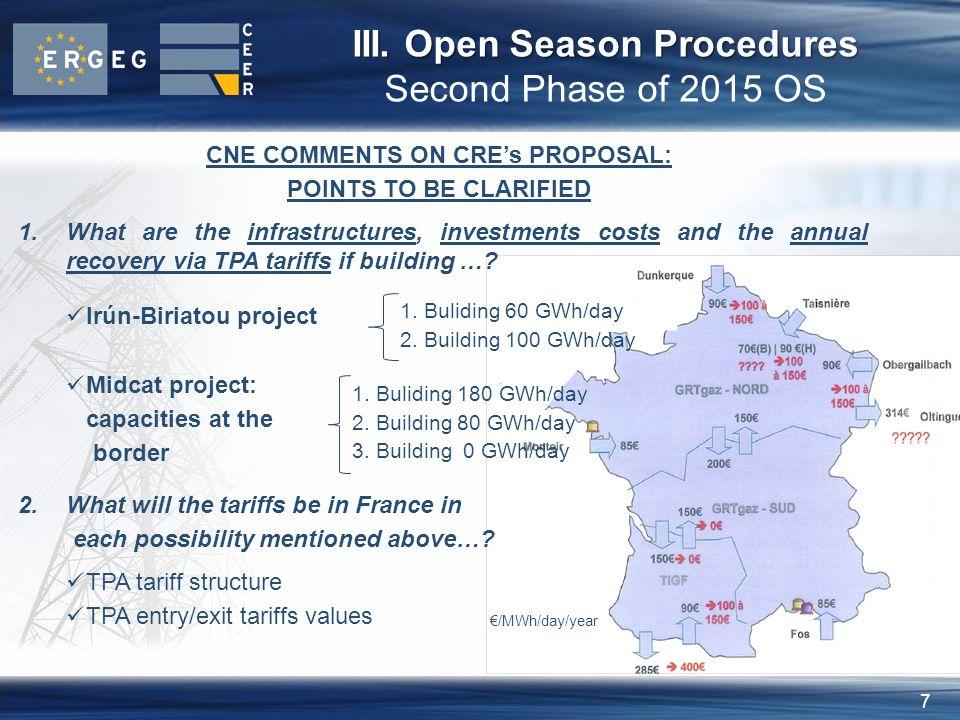 8 III.Open Season Procedures III.