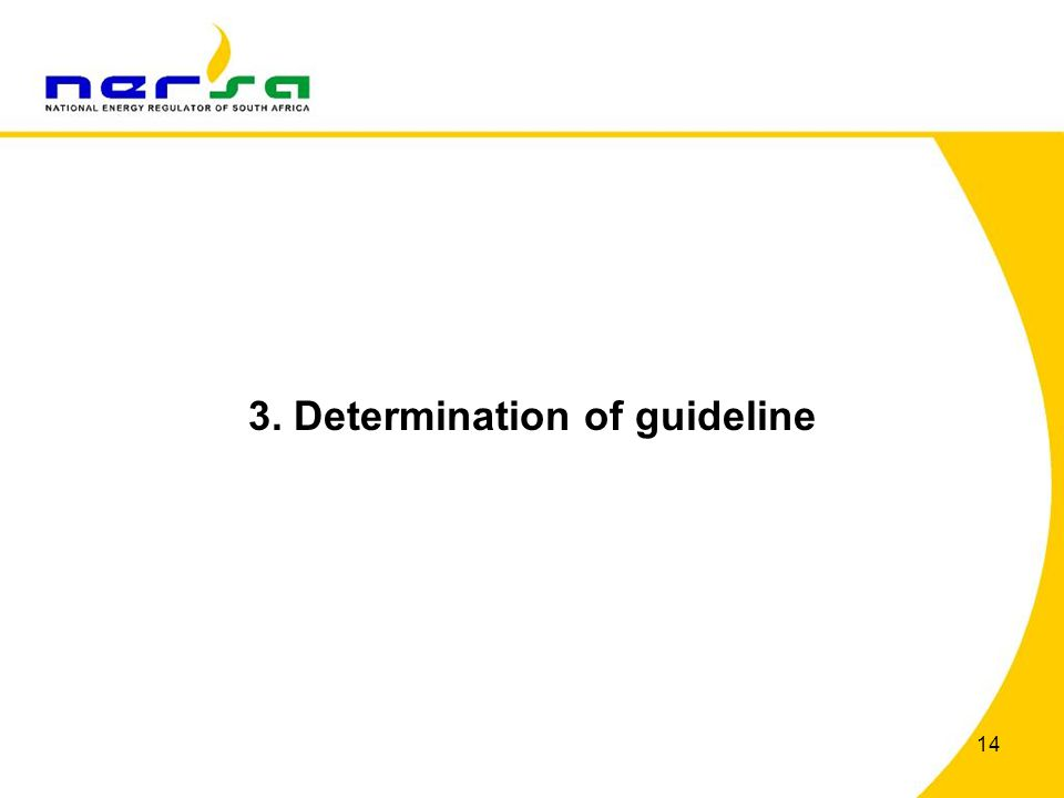 3. Determination of guideline 14