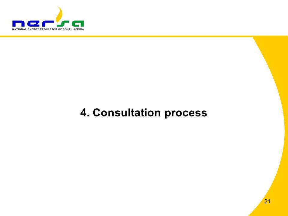 4. Consultation process 21