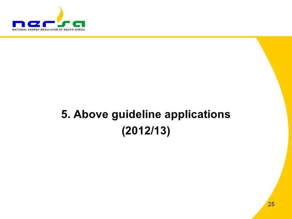 5. Above guideline applications (2012/13) 25