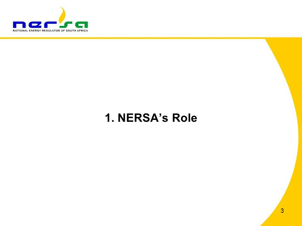 1. NERSAs Role 3