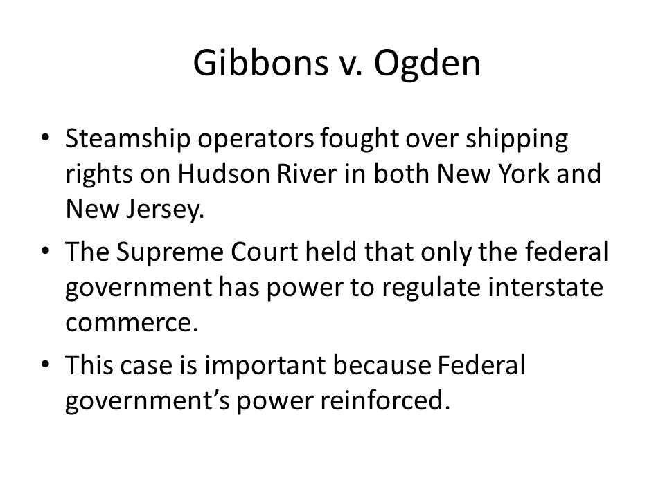 Steamship operators fought over shipping rights on Hudson River in both New York and New Jersey. The Supreme Court held that only the federal governme