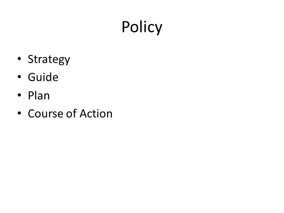 Strategy Guide Plan Course of Action