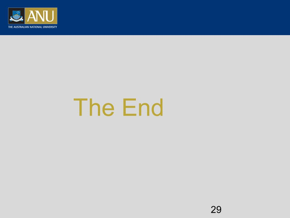 The End 29