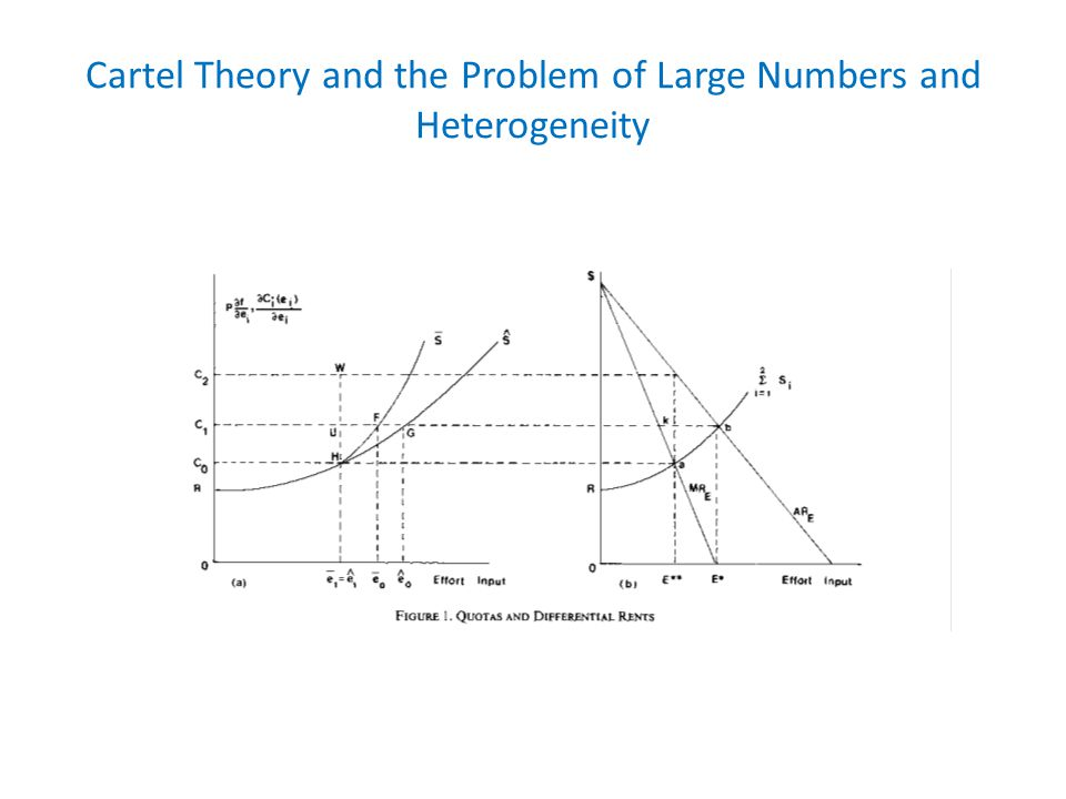 Cartel Theory and the Problem of Large Numbers and Heterogeneity