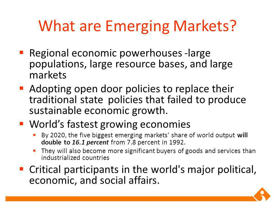 What are Emerging Markets.