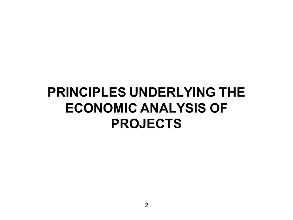 Output from a project affects the market equilibrium.