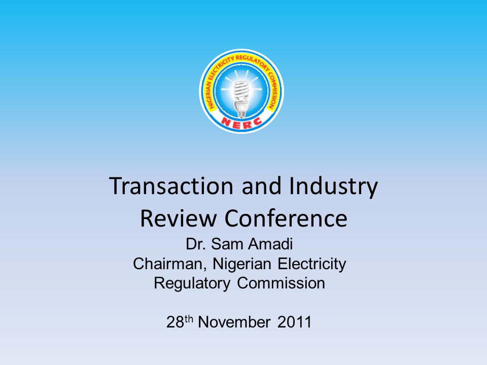 Transaction and Industry Review Conference Dr.