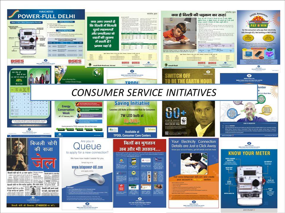 30 CONSUMER SERVICE INITIATIVES